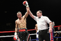 Chris Eubank Jr fights Jason Ball  in a middleweight Boxing contest at the Magna Centre, Rotherham, promoted by Hennessy Sports - 18/02/12 - MANDATORY CREDIT: Chris Royle