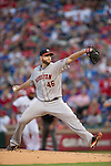 Scott Feldman (Rangers),<br /> APRIL 11, 2014 - MLB :<br /> Scott Feldman of the Houston Astros pitches during the baseball game against the Texas Rangers at Rangers Ballpark in Arlington in Arlington, Texas, United States. (Photo by Thomas Anderson/AFLO) (JAPANESE NEWSPAPER OUT)