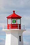 Images of The Canadian Maritime Provinces of Nova Scotia and Prince Edward Island. Lighthouse at Peggy's Cove, Nova Scotia, Canada.