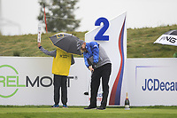 Stephen Gallacher (SCO) on the 2nd tee during Round 2 of the D+D Real Czech Masters at the Albatross Golf Resort, Prague, Czech Rep. 01/09/2017<br /> Picture: Golffile | Thos Caffrey<br /> <br /> <br /> All photo usage must carry mandatory copyright credit     (&copy; Golffile | Thos Caffrey)