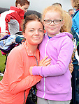 Michelle and Chloe Campbell who took part in Tiaran's 5K run at Hunterstown. Photo:Colin Bell/pressphotos.ie