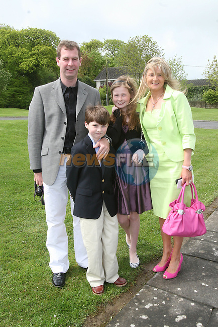 Louis, Luke, Denise and Regan at the Whitecross First Holy Communion...Photo NEWSFILE/Jenny Matthews.(Photo credit should read Jenny Matthews/NEWSFILE)....This Picture has been sent you under the condtions enclosed by:.Newsfile Ltd..The Studio,.Millmount Abbey,.Drogheda,.Co Meath..Ireland..Tel: +353(0)41-9871240.Fax: +353(0)41-9871260.GSM: +353(0)86-2500958.email: pictures@newsfile.ie.www.newsfile.ie.FTP: 193.120.102.198.