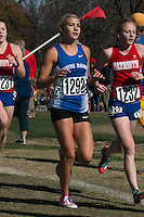 Notre Dame sophomore Alaina Baumgart runs to a 3rd-place finish in the Class 3 race at the 2015 MSHSAA State Cross Country Championships.