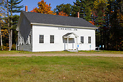 New Hampton meeting house during the autumn months. Located in New Hampton,  New Hampshire USA...This meeting house was built in 1798.
