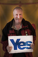 Ritratti di supporter dell'indipendenza della Scozia al referendum del 18 settembre 2014 Portraits of Scotish independence supporters at the 18th September 2014 referendum in Scotland