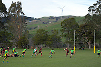 Action from the Manawatu senior 3 rugby union match between Ashhurst and Halcombe at Lincoln Park in Ashhurst, New Zealand on Saturday, 1 August 2020. Photo: Dave Lintott / lintottphoto.co.nz