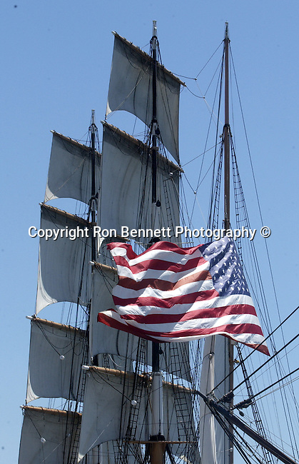 Star of India 1863 iron hulled beauty oldest active ship in world San Diego Bay California, full rigged ship named after the Greek goddess of music, tall ship is large traditionally rigged sailing vessel California Fine Art Photography by Ron Bennett,