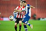 BILBAO. ESPA&Ntilde;A. FUTBOL.<br /> Partido de la Liga BBVA entre Athletic Club y Espanyol; a 16-02-14. <br /> En la imagen :<br /> 18Juan Fuentes (Espanyol Barcelona)<br /> 14Markel Susaeta (Athletic Bilbao)<br /> PPHOTOCALL3000 / RME