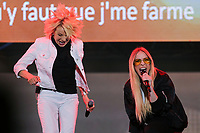 Marjo and Marie-Mai perform at the St-Jean Baptist show on the Plains of Abraham in Quebec City during the Fete nationale du Quebec, Friday June 23, 2017.