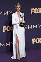 LOS ANGELES - SEP 22:  Jodie Comer at the Emmy Awards 2019: PRESS ROOM at the Microsoft Theater on September 22, 2019 in Los Angeles, CA