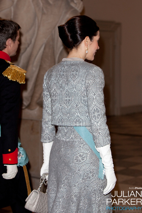 Crown Princess Mary of Denmark, attend the New Year Court for diplomats at Christiansborg Palace, in Copenhagen, Denmark.