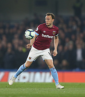 West Ham United's Mark Noble<br /> <br /> Photographer Rob Newell/CameraSport<br /> <br /> The Premier League - Chelsea v West Ham United - Monday 8th April 2019 - Stamford Bridge - London<br /> <br /> World Copyright &copy; 2019 CameraSport. All rights reserved. 43 Linden Ave. Countesthorpe. Leicester. England. LE8 5PG - Tel: +44 (0) 116 277 4147 - admin@camerasport.com - www.camerasport.com