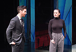 Dry Powder<br /> by Sarah Burgess<br /> Directed by Anna Ledwich at the <br /> Hampstead Theatre, London, Great Britain <br /> 31st January 2018 <br /> Press photocall <br /> Tom Riley as Seth<br /> Hayley Atwell as Jenny<br />  <br /> <br /> Designed by Andrew D Edwards <br /> Lighting by Elliot Griggs<br /> Sound by Max Pappenheim <br /> Video by Ian William Galloway<br /> <br /> Photograph by Elliott Franks