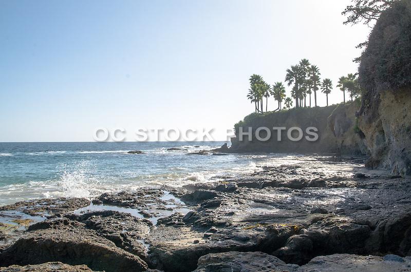 High Tide along the Rocky Coast of Laguna Beach