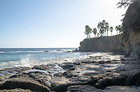 High Tide along the Rocky Coast of Laguna Beach