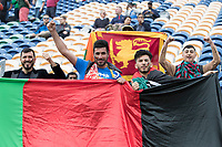 The Afghanistan  fans had their photo 'bombed' by a Sri Lankan fan during Afghanistan vs Sri Lanka, ICC World Cup Cricket at Sophia Gardens Cardiff on 4th June 2019