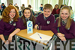 Representing Gaelscoil Faithleann, Killarney at the Credit Union Chapter 23 Quiz held in the ITT North Campus on Sunday afternoon were l/r Elena Nic Dhaibhi, Saoirse De Bu?rca, Liam O' Muiris and Aileen Ni? Mhathu?na............................................................................................................................................ ............