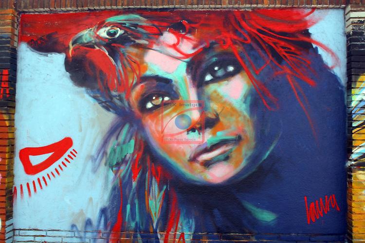 Street Art-Graffittis.<br /> Barcelona, carrer de Peru, Poblenou.