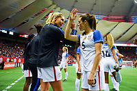 Vancouver, Canada - Thursday November 09, 2017: Allie Long, Kelley O'Hara during an International friendly match between the Women's National teams of the United States (USA) and Canada (CAN) at BC Place.