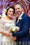 Lorraine O'Donoghue, daughter of Denis&Kathleen, Cloghane, Ballyard, Tralee and Maurice O'Brien, son of Maurice snr and Marie, Listellick, Tralee, who married last Friday February 9th in St John's church, Tralee with Fr Padraig Walsh officiating. Bestman was Eamonn O'Brien, groomsmen were David Walsh&Mike O'Brien. 1st bridesmaid was Elaine Brennan, others were Catriona Counihan and Mairead Egan. Flower girl was Suzie O'Brien. Pageboys were Tadhg Counihan&Adam O'Brien. The reception was in the Ballygarry house hotel, Tralee and the couple will reside in Tralee.