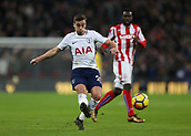 9th December 2017, Wembley Stadium, London England; EPL Premier League football, Tottenham Hotspur versus Stoke City; Harry Winks of Tottenham Hotspur passing the ball
