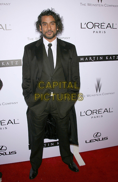 NAVEEN ANDREWS.The Weinstein Company's 2007 Golden Globes After Party held at Trader Vic's at the Beverly Hilton Hotel, Beverly Hills, California, USA..January 15th, 2007.half length black suit jacket coat hands in pockets .CAP/ADM/ZL.©Zach Lipp/AdMedia/Capital Pictures