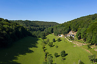 BNPS.co.uk (01202 558833)<br /> Pic: Strutt&Parker/BNPS<br /> <br /> Fancy living in the bucolic landscape made famous in Laurie Lee's Cider With Rosie...<br /> <br /> A charming estate in the valley which provided the setting for the seminal book 'Cider with Rosie' has emerged on the market for £3.25million.<br /> <br /> The Dillay is nestled within the picturesque Dillay Valley, which was the home of the celebrated author Laurie Lee.<br /> <br /> In his 1959 novel, which has sold six million copies, he provides an account of his life there in the years that followed the end of World War One.<br /> <br /> The 164 acres estate, located in the Cotswold Area of Outstanding Natural Beauty, is hidden away in a secluded spot at the end of a long private drive.<br /> <br /> The main five bedroom farmhouse is made of Old Cotswold stone with a slate roof, and the property comes with two other lodges and a range of outbuildings.