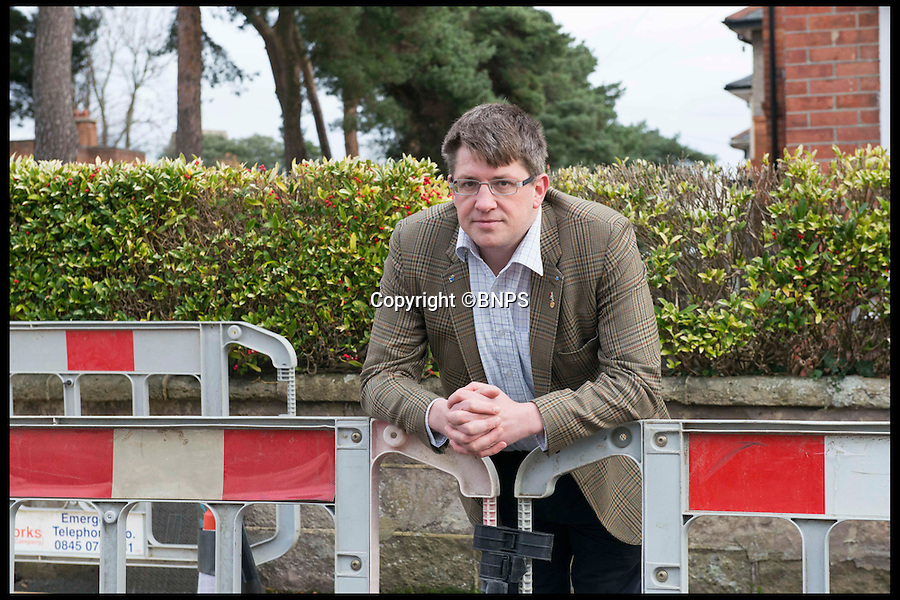 BNPS.co.uk (01202 558833)<br /> Pic: LauraDale/BNPS<br /> <br /> Ed Baker at the site where he smelt gas, discovering a leak.<br /> <br /> A man who hasn't been able to smell properly for 20 years, sniffed out a gas leak after a kick to the head during a rugby game restored his lost sense.<br /> <br /> Ed Baker received a size 12 boot to the face when he was playing rugby, which broke his nose.<br /> <br /> But as the swelling went down a week later he realised something was different - he could breathe better for the first time in years.