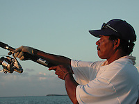 Reef fishing for Snapper, Palau, Micronesia.