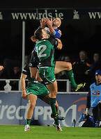 26th October 2013; Fergus McFadden, Leinster, in action against Craig Ronaldson, Connacht. Rabodirect Pro12, Leinster v Connacht, Royal Dublin Society, Dublin. Picture credit: Tommy Grealy/actionshots.ie.