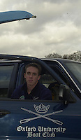 London, GREAT BRITAIN.Oxford Trail 8's.Oxford President Matt Smith. Varsity: Boat Race  [Mandatory Credit: Peter Spurrier: Intersport Images]