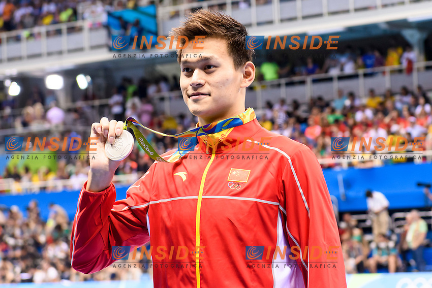 YANG Sun CHN <br /> Silver Medal Men's 400m Freestyle <br /> Rio de Janeiro 06-08-2016 Olympic Aquatics Stadium <br /> Swimming Nuoto <br /> Foto Andrea Staccioli/Deepbluemedia/Insidefoto