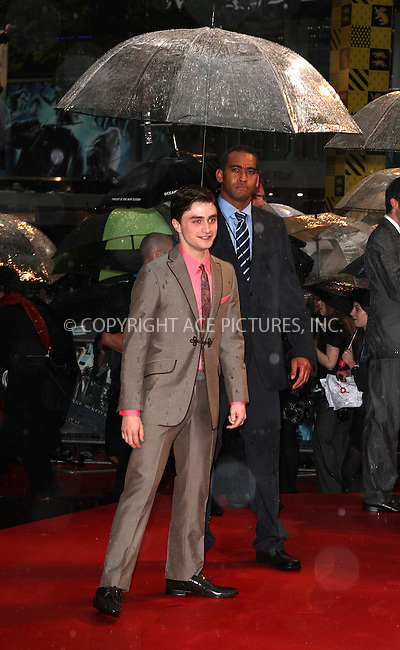 """WWW.ACEPIXS.COM . . . . .  ..... . . . . US SALES ONLY . . . . .....July 7 2009, London....Actor Daniel Radcliffe at the World Premiere of """"Harry Potter And The Half-Blood Prince"""" held at the Empire Leicester Square on July 7 2009 in London....Please byline: FAMOUS-ACE PICTURES... . . . .  ....Ace Pictures, Inc:  ..tel: (212) 243 8787 or (646) 769 0430..e-mail: info@acepixs.com..web: http://www.acepixs.com"""