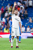 Real Madrid Nacho Fernandez during La Liga match between Real Madrid and Getafe CF at Santiago Bernabeu in Madrid, Spain. August 19, 2018.  *** Local Caption *** © pixathlon