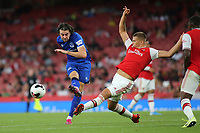Harry Clarke of Arsenal blocks a shot from Everton's Antony Evans during Arsenal Under-23 vs Everton Under-23, Premier League 2 Football at the Emirates Stadium on 23rd August 2019