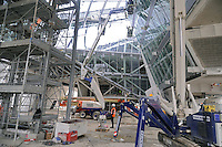 - Milano, cantiere per  l'Esposizione Mondiale Expo 2015, il padiglione Italia<br />