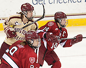 Alex Carpenter (BC - 5), Jillian Dempsey (Harvard - 14) - The Boston College Eagles defeated the visiting Harvard University Crimson 3-1 in their NCAA quarterfinal matchup on Saturday, March 16, 2013, at Kelley Rink in Conte Forum in Chestnut Hill, Massachusetts.