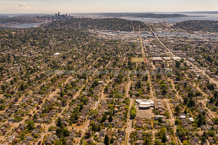 6/26/2015&mdash;Puget Sound, WA<br /> <br /> The Whittier Heights neighborhood in Seattle, WA.<br /> <br /> Photograph by Stuart Isett<br /> &copy;2015 Stuart Isett. All rights reserved.