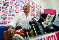 Conferenza Stampa di Gianni Lettieri , candidato del centrodestra , a commento del risultato nelle elezioni comunali 2016