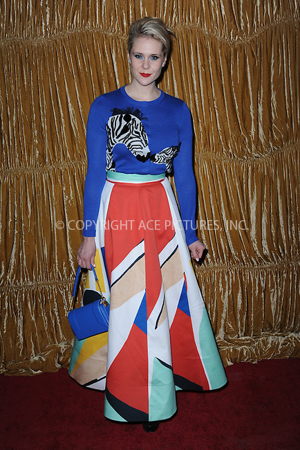 WWW.ACEPIXS.COM<br /> February 16, 2015 New York City<br /> <br /> Kate Nash at the alice + olivia by Stacey Bendet fashion presentation on February 16, 2015 in New York City. <br /> <br /> By Line: Kristin Callahan/ACE Pictures<br /> ACE Pictures, Inc.<br /> tel: 646 769 0430<br /> Email: info@acepixs.com<br /> www.acepixs.com