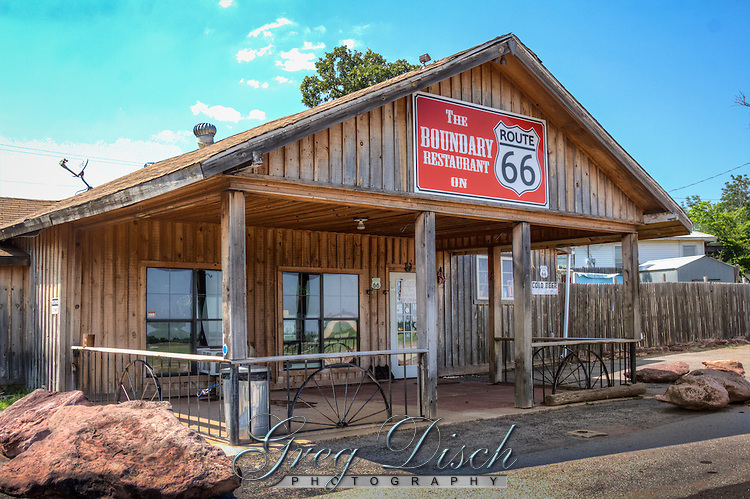 The Boundary Restaurant on Route 66 near Luther Oklahoma, sits on the boundary line of the 1889 Land Run.