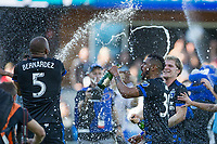 Santa Clara, CA - Sunday, October 22, 2017: San Jose Earthquakes beat Minnesota United 3-2 at the Avaya Stadium in Santa Clara.