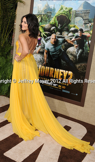 HOLLYWOOD, CA - FEBRUARY 02: Vanessa Hudgens  attends 'Journey 2: The Mysterious Island' Los Angeles Premiere at Grauman's Chinese Theatre on February 2, 2012 in Hollywood, California.