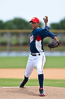Kelvin Lopez of the Gulf Coast League Nationals during the game against the Gulf Coast League Mets June 27 2010 at the Washington Nationals complex in Viera, Florida.  Photo By Scott Jontes/Four Seam Images