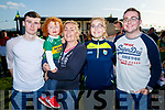 Christopher Bourke (Clare) with Mary Gardiner, Oisin Bourke, Aoife Bourke and Jamie Bourke (Blennerville, Tralee), pictured at the Kerry Minor home coming at Kilcummin GAA pitch on Monday night last.