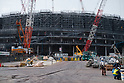 Construction for Japan National Stadium continues for Tokyo 2020 Olympic Games