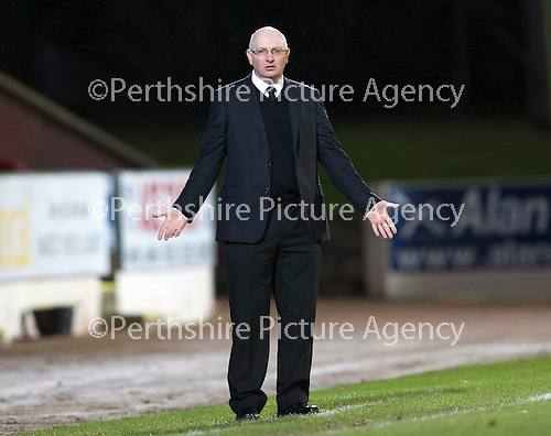 St Johnstone v Livingston.....30.11.13     Scottish Cup 4th Round<br /> Livvy boss John McGlynn<br /> Picture by Graeme Hart.<br /> Copyright Perthshire Picture Agency<br /> Tel: 01738 623350  Mobile: 07990 594431