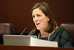 Nevada Sen. Becky Harris, R-Las Vegas, works in committee at the Legislative Building in Carson City, Nev., on Tuesday, May 12, 2015. <br /> Photo by Cathleen Allison