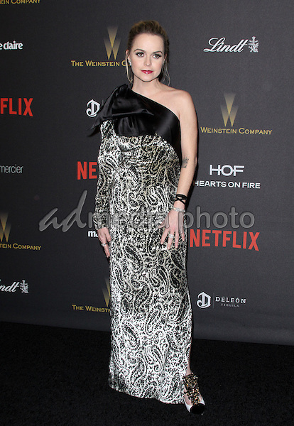 10 January 2016 - Los Angeles, California - Taryn Manning. 2016 Weinstein Company & Netflix Golden Gloves After Party held at the Beverly Hilton Hotel. Photo Credit: AdMedia