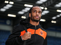 Blackpool's Nathan Delfouneso arriving at the stadium<br /> <br /> Photographer Andrew Kearns/CameraSport<br /> <br /> The EFL Sky Bet League One - Portsmouth v Blackpool - Saturday 12th January 2019 - Fratton Park - Portsmouth<br /> <br /> World Copyright &copy; 2019 CameraSport. All rights reserved. 43 Linden Ave. Countesthorpe. Leicester. England. LE8 5PG - Tel: +44 (0) 116 277 4147 - admin@camerasport.com - www.camerasport.com